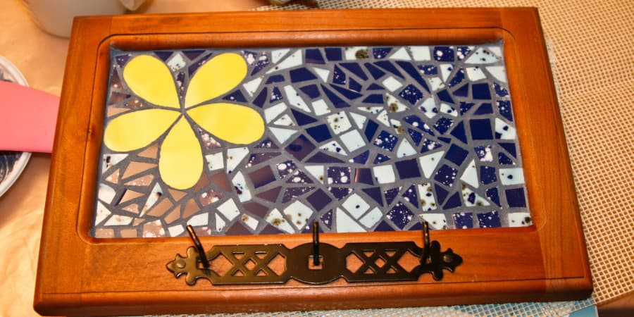 mosaico, técnica directa sobre madera