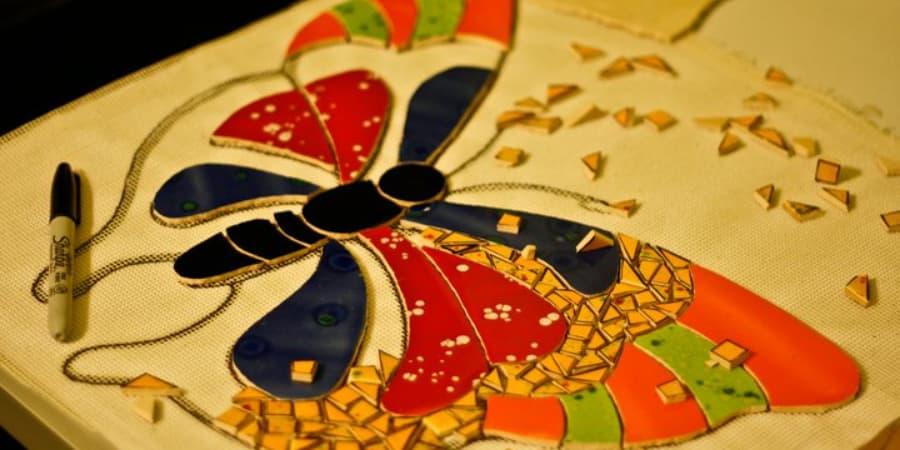 técnica de malla mosaico